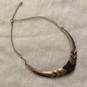 Simple Black and Gold Statement Necklace